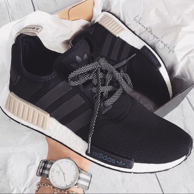 3c3149109e6a0 Women Sizes  BN Authentic Adidas NMD R1 Black Nude Tab
