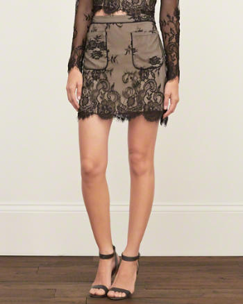 Abercrombie and Fitch Lace A-Line Skirt