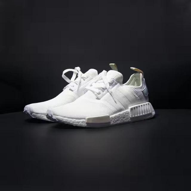 Adidas NMD R1 Mint White And Black Beige, Men's Fashion