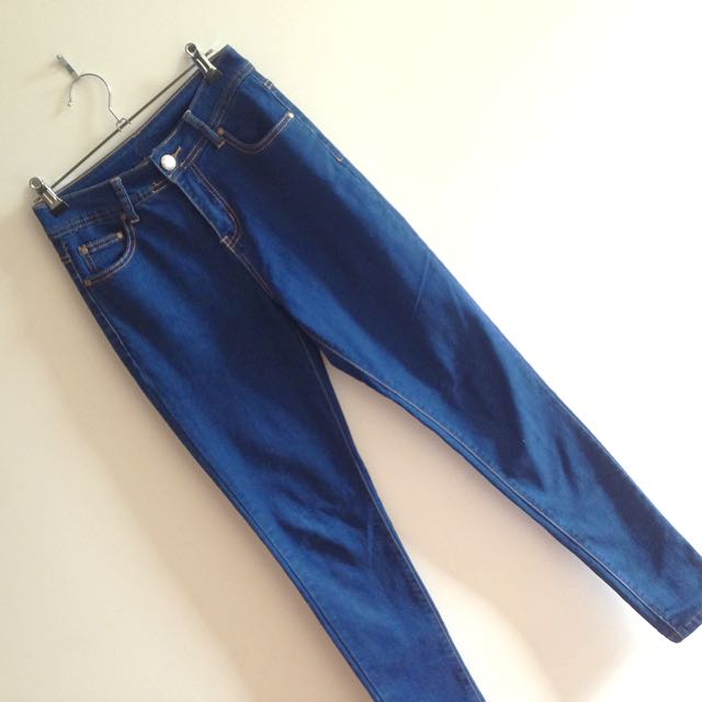 Ally Denim Classic Blue High Waisted Skinny Jeans