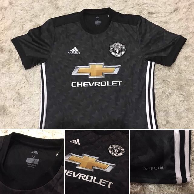 6a84550c2 Authentic adidas Climacool Manchester United 17 18 Away Shirt (Short  Sleeves)