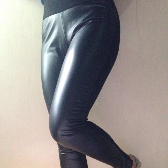 Authentic Zara Leather Leggings