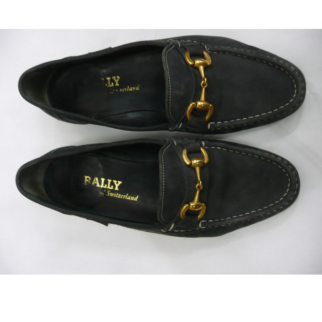 d05c22e5a0d BALLY of SWITZERLAND MENS Blue Suede Leather Loafers BONDI Shoes ...