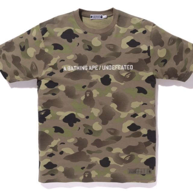 c96dee99 Size L Bape X Undefeated Camo Tshirt, Men's Fashion, Clothes on ...