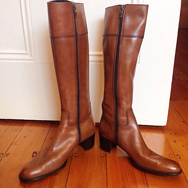 Bell Florrie Knee-High Brown Leather Boots