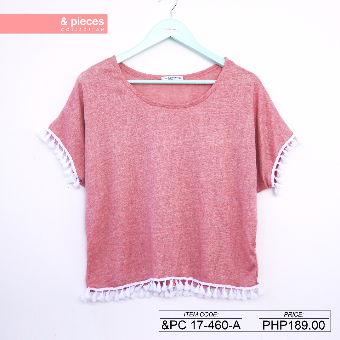 Boho pompoms shirt