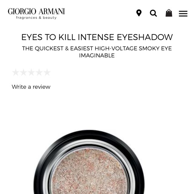 Brand New Giorgio Armani Eyes To Kill Eyeshadow