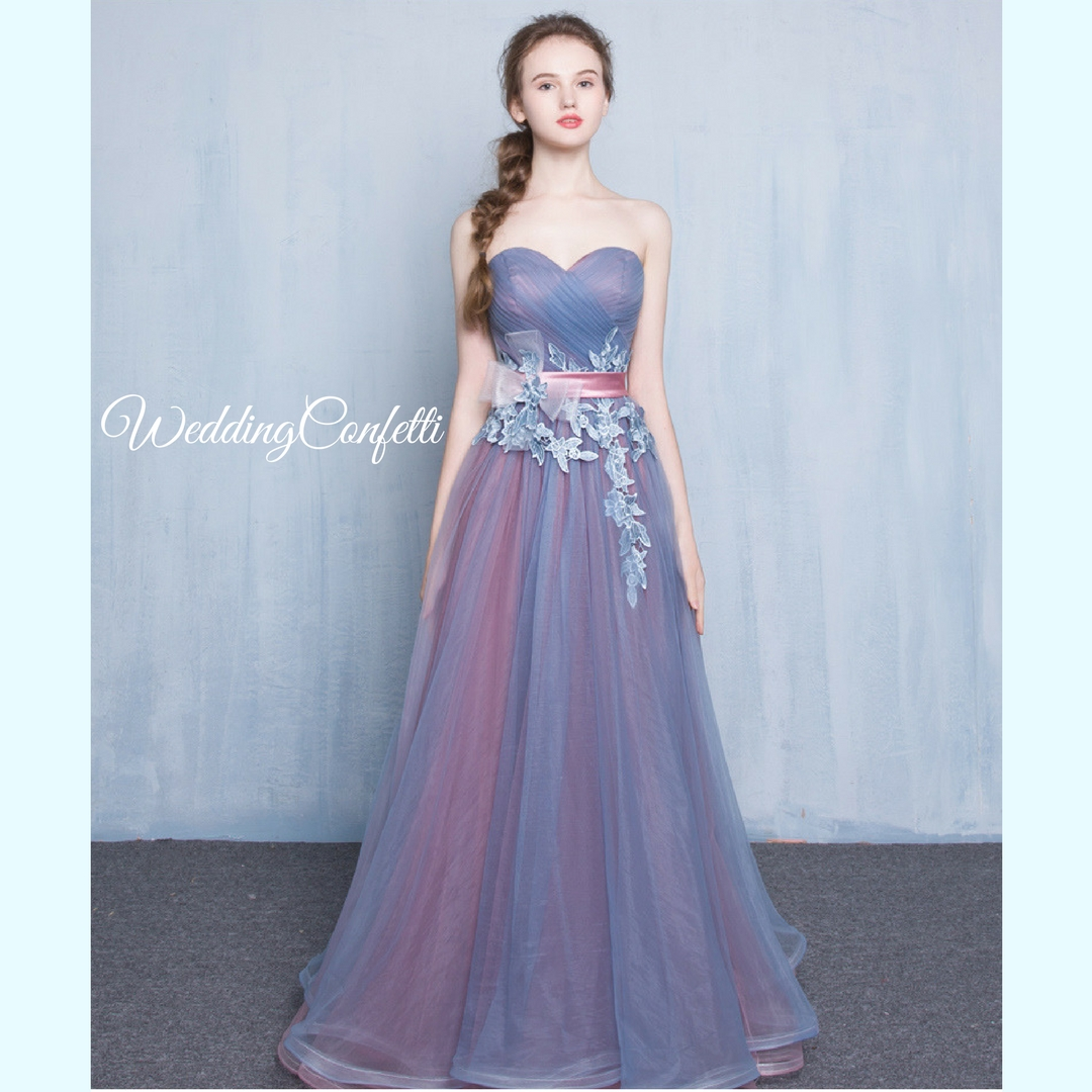 23a68aeecf Brand New  Regelia Wedding Bridal Tulle Lace Tube Blue Dress   Gown ...