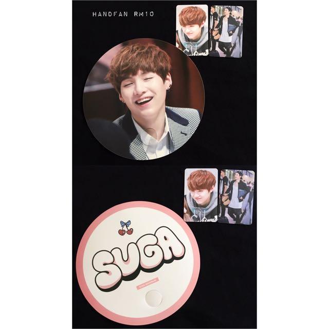BTS Suga Fansite Items