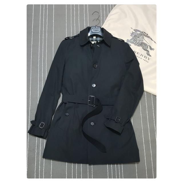 Burberry London Men's Single Breasted Trench Coat In Black