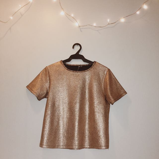 Cotton On Gold Top