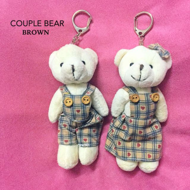 Couple Bear Keychain