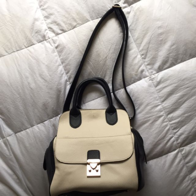 Cream/black Handbag