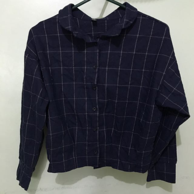 Cropped Checkered Flannel