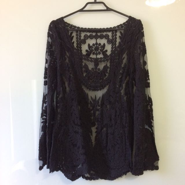 Crotchet Lace Top/beach Coverup