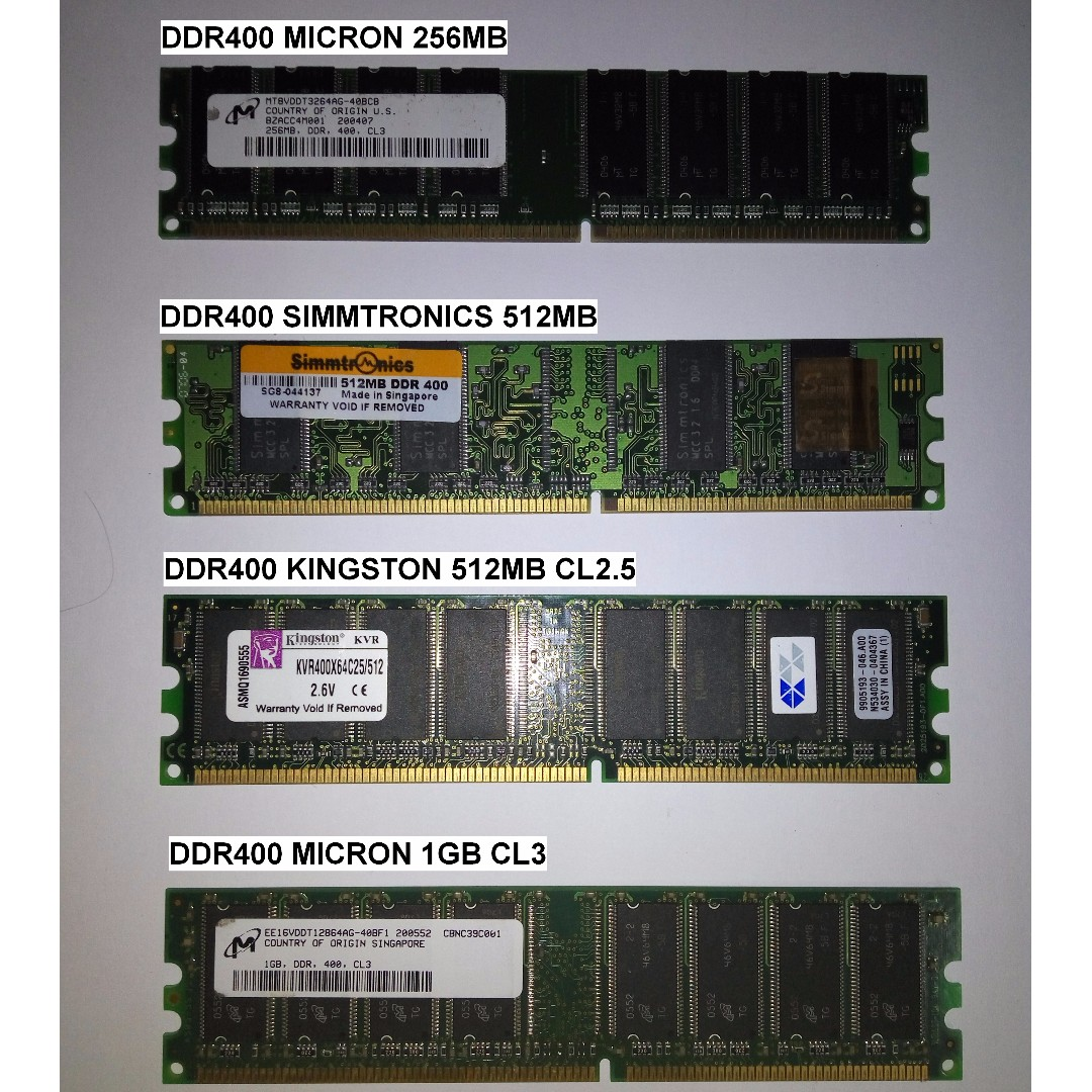Ddr1 400 Desktop Rams 256mb 512mb 1gb Electronics Computer Ddr 1 512 Mb Photo