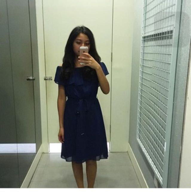 Dorothy Perkins Navy Dress