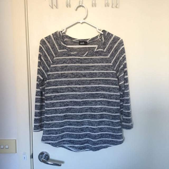 Dotti Navy White Stripe Tee Top Clothes