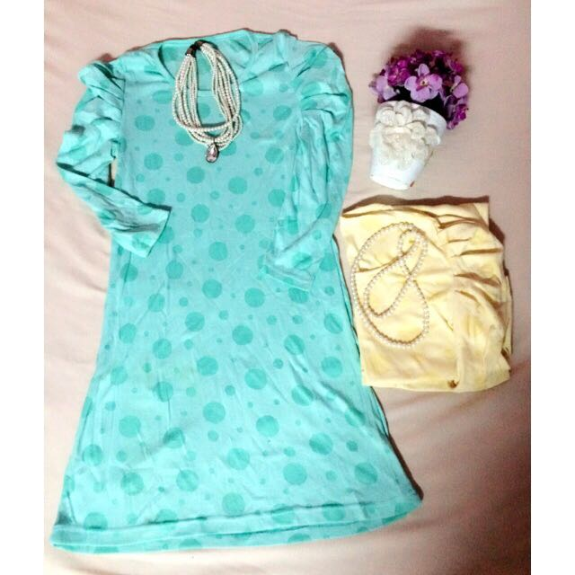 Dress Polkadot 2pcs 70ribu