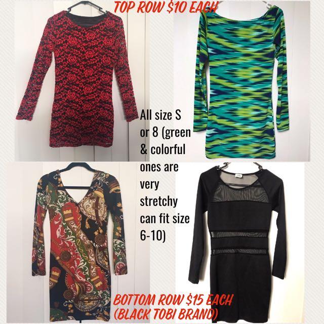 Dresses - Bodycon Long Sleeves