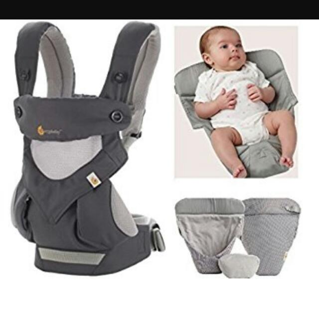 Ergobaby 360 Air Cool Mesh Carrier, Infant Insert And Teething Pad, Babies & Kids on Carousell