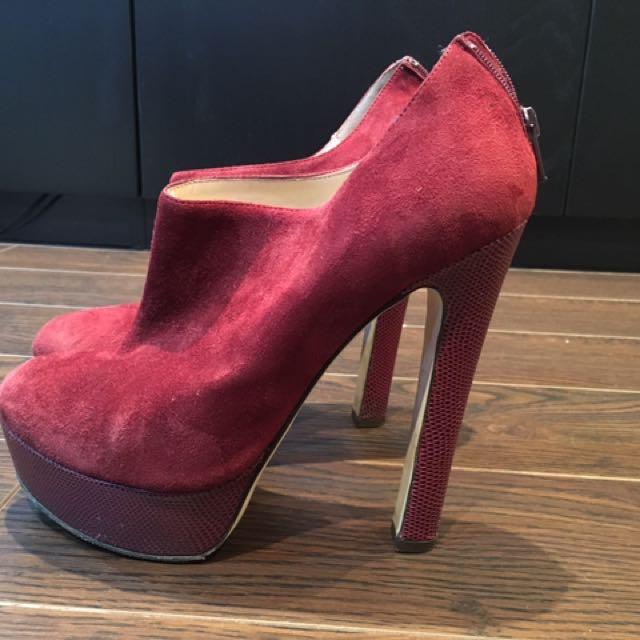 Fabio Rusconi Red Sued Shoes