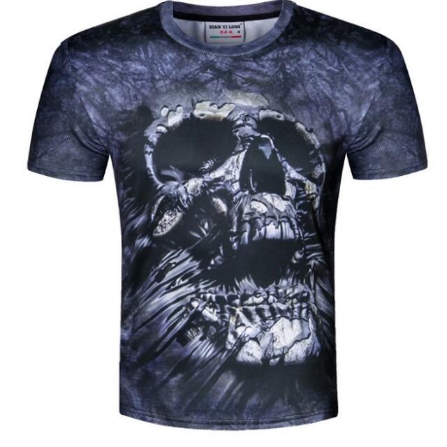 983f4eb2133f Fashion Brand T-shirt Male Hip Hop 3d Print Skulls Harajuku ...