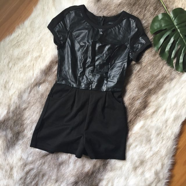 Faux Leather Playsuit 8