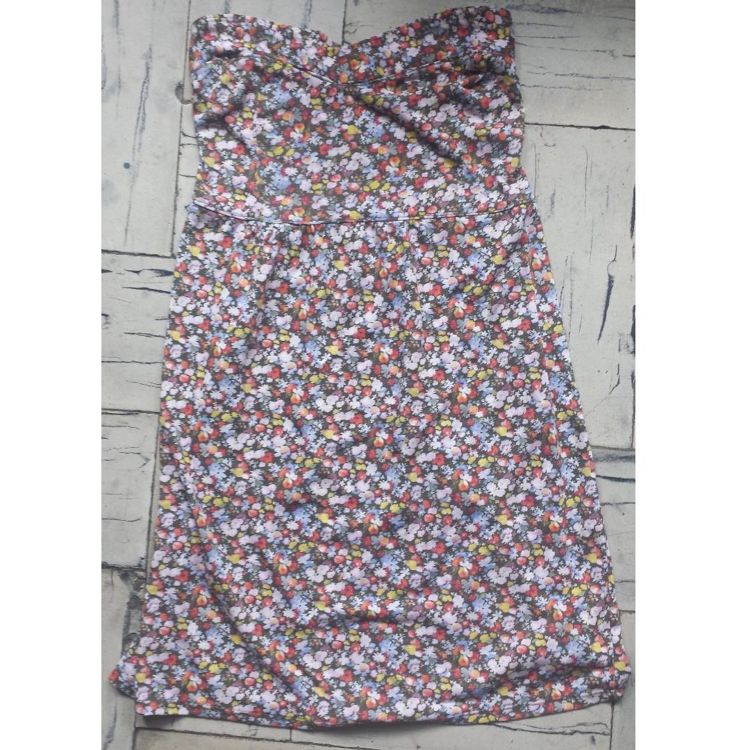 Floral Sweetheart Tube Dress