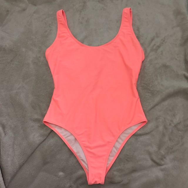 Forever 21 One Piece Swimsuit In Neon Pink