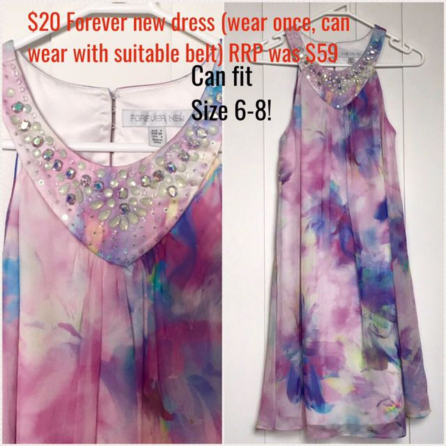 Forever New - Pretty Dress With Neck Stones
