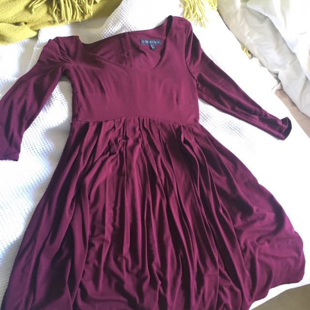 PRICE DROP FOREVER NEW BURGUNDY DRESS
