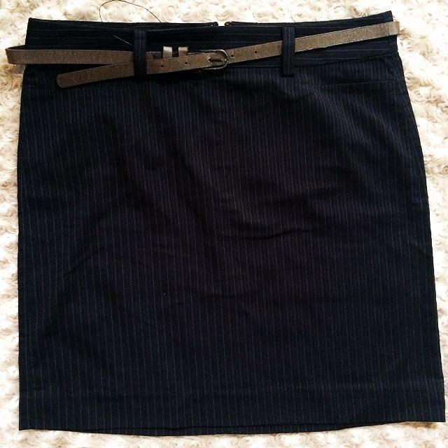 Formal Skirt Black stripes