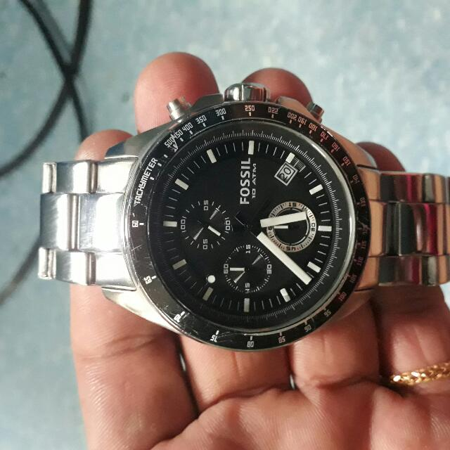 FOSSIL Black And Decker Chronograhp Stainless Steel Watch..