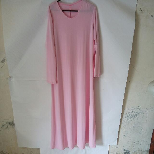 Gamis Polos Baby Pink