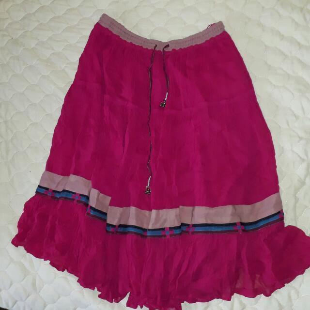 Garterized Skirt