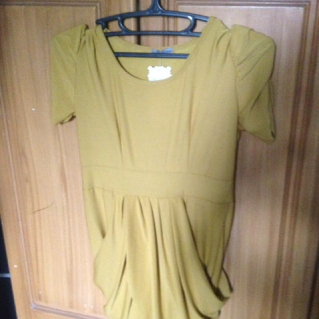 Gold Top Semi Dress