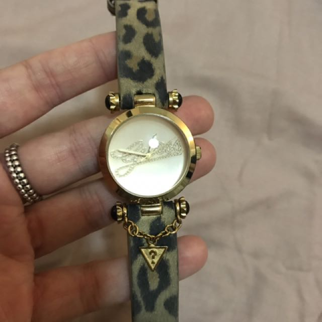 Guess Leopard Print Watch