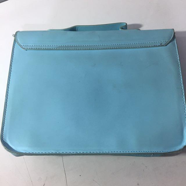 h&m blue sling bag