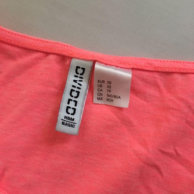 HnM Crop Top Pink Neon