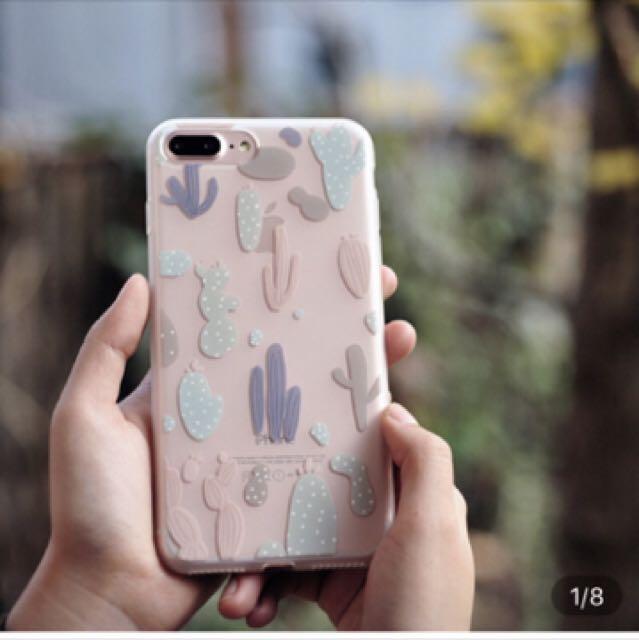 iPhone 6/6s 彩色仙人掌 手繪 文創 手機殼