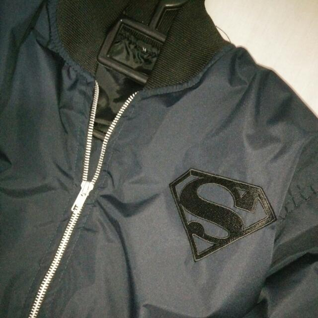 Jaket Bomber Superman Navy