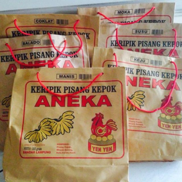 Keripik Pisang Kepok Aneka Yenyen Lampung, Makanan & Minuman, Snek di Carousell