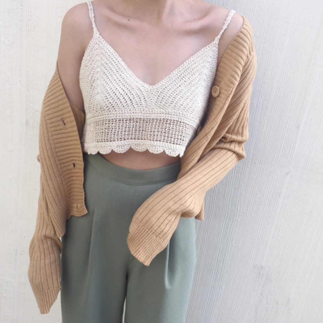 Knitted Crop Cardigan // Outerwear