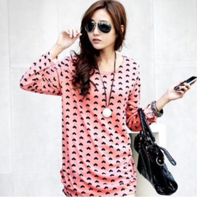 Korea baggy blouse lovely PINK