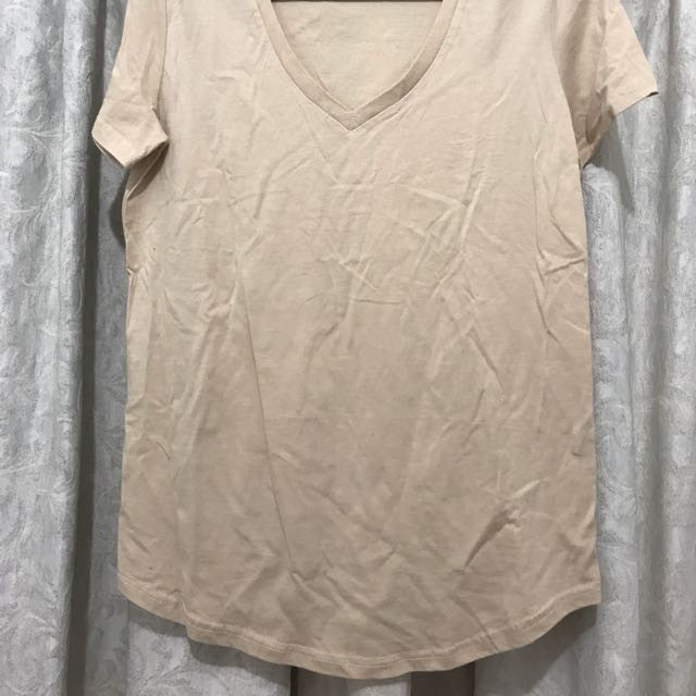 Ladies Bronze Snake Ache Oversize Basic Tee T-shirt Nude Tan 8