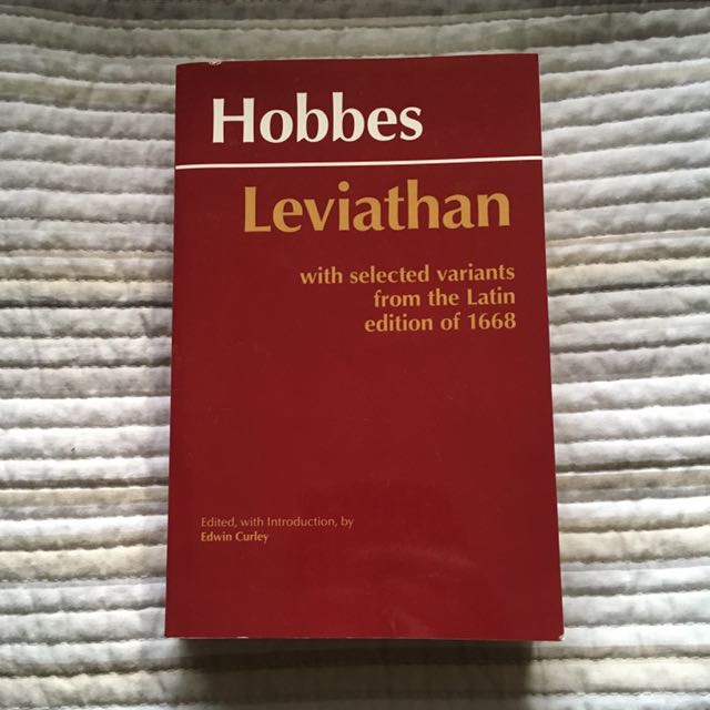 Leviathan Edited By Edwin Curley
