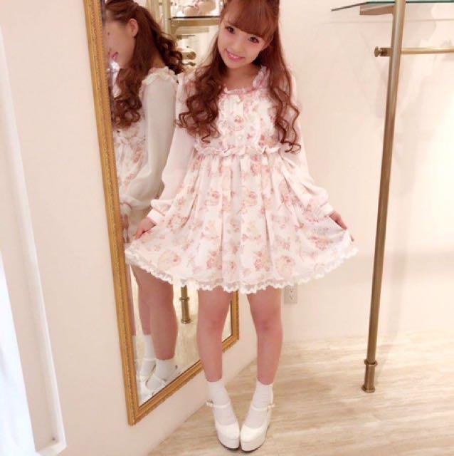 Lizlisa 糖果柄洋裝 粉紅色 原單