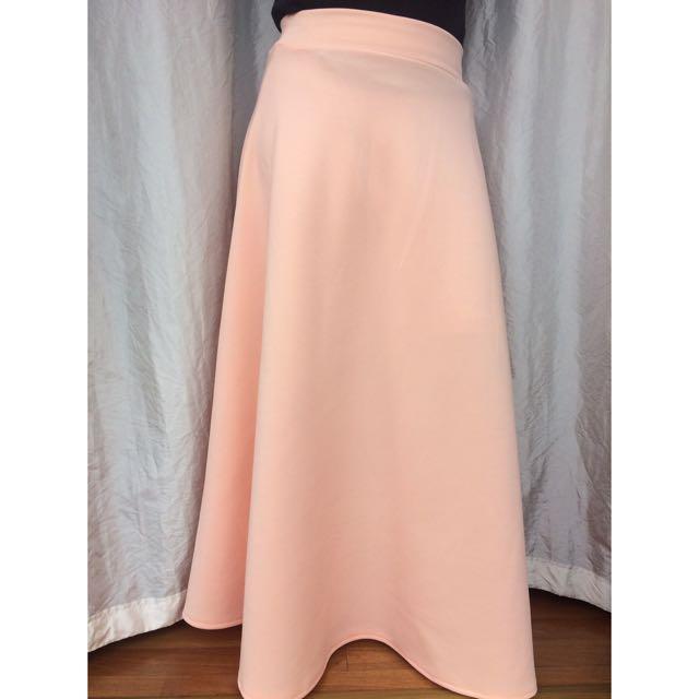 Long Nude Pink Skirt
