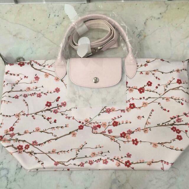 Longchamp Sakura Pink Medium